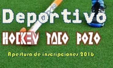 Deportivo Hockey Taco Pozo Apertura de inscripciones
