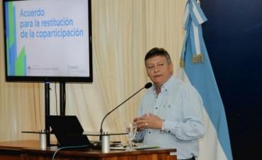 AMPLIO RESPALDO DE INTENDENTES Y DIPUTADOS AL ACUERDO PARA LA RESTITUCIÓN DE LA COPARTICIPACIÓN FEDERAL