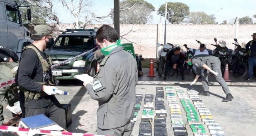 Secuestraron más de 260 kg de cocaína en el límite con Santiago