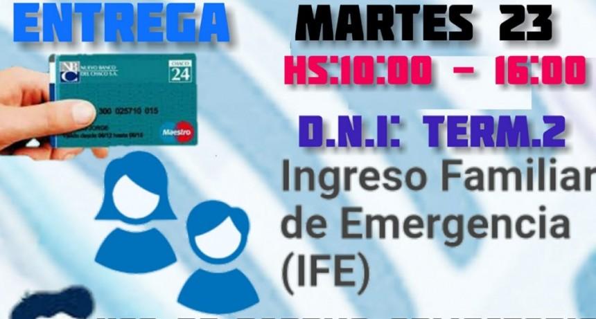 Continúa hoy martes la entrega de tarjetas de débito para beneficios IFE