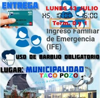 Se reinicia este lunes la entrega de tarjetas de débito Chaco 24 para beneficios IFE