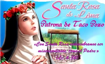 Novena en honor a Santa Rosa de Lima.