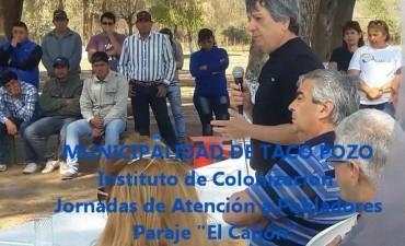 Taco Pozo: Instituto de Colonización jornadas de atención a pobladores