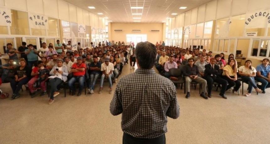 Capitanich llevó las propuestas de reforma constitucional a Taco Pozo,También agradeció el apoyo en las PASO.