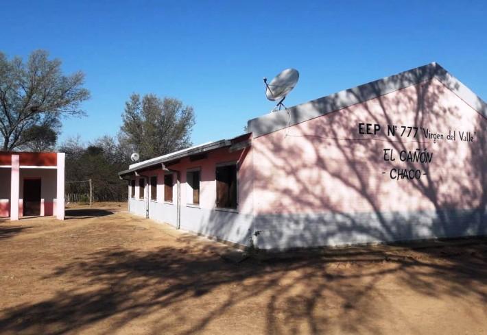 El Gobierno habilitó televisión satelital en 18 escuelas rurales de Taco Pozo