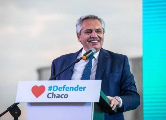ALBERTO FERNÁNDEZ EN EL ACTO DEL FRENTE DE TODOS CHACO